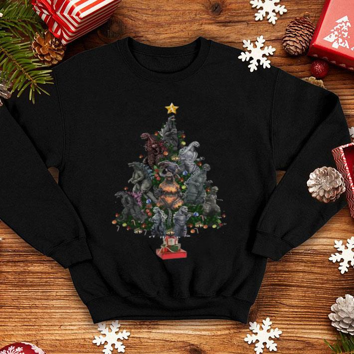 Christmas tree dinosaurs shirt
