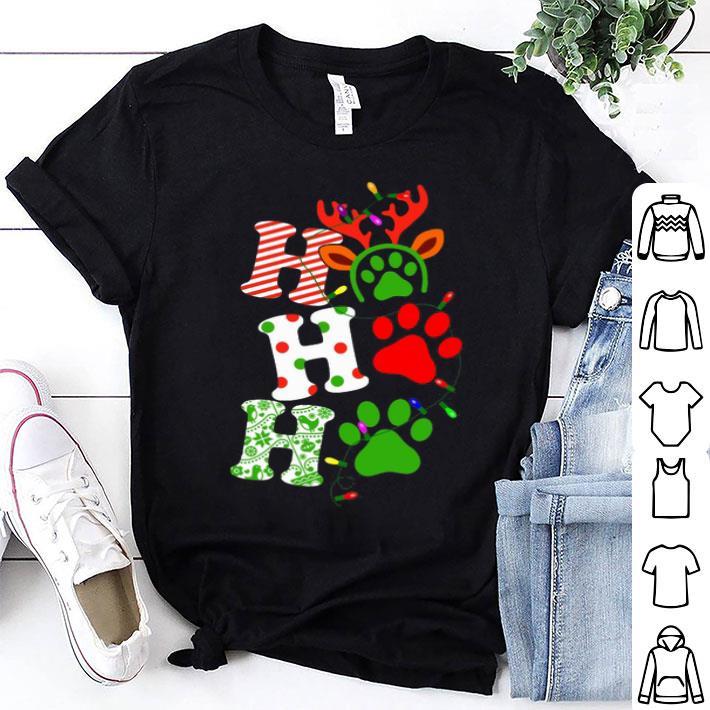 Dog paw Ho Ho Ho Christmas shirt