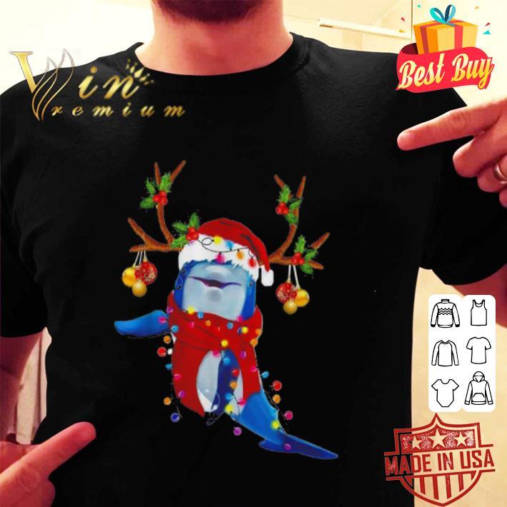 Dolphin Santa reindeer Christmas shirt