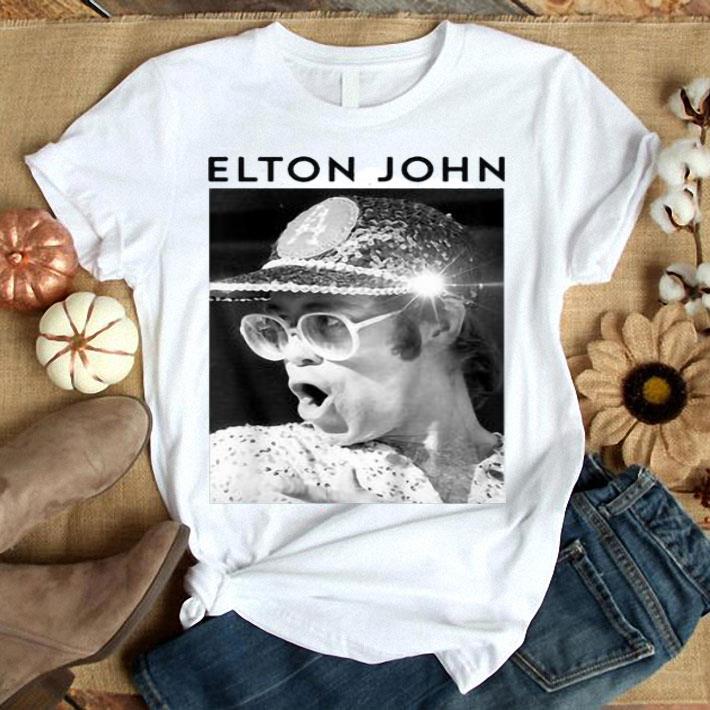 Elton John Black & White Photo shirt