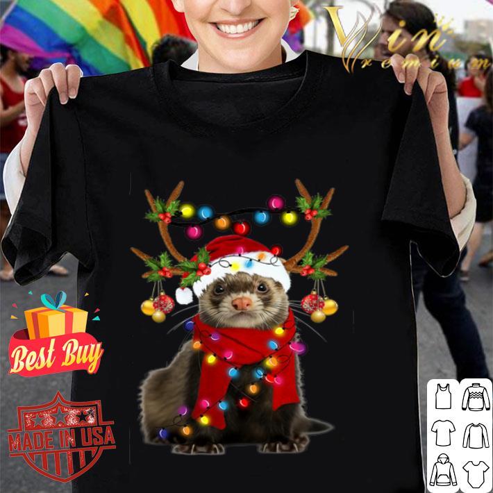 Ferret gorgeous reindeer Christmas shirt