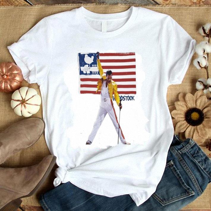 Freddie Mercury American flag Woodstock shirt