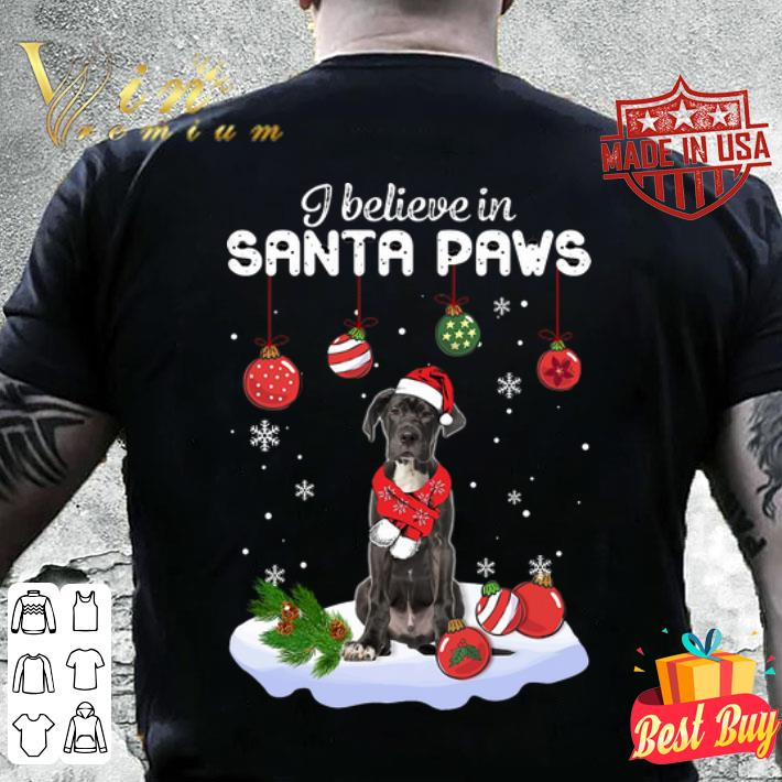 Great Dane i believe in Santa paws Christmas shirt