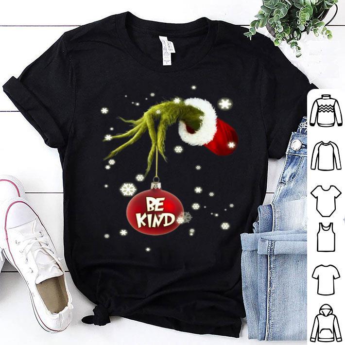 Grinch hand hold be kind Christmas shirt