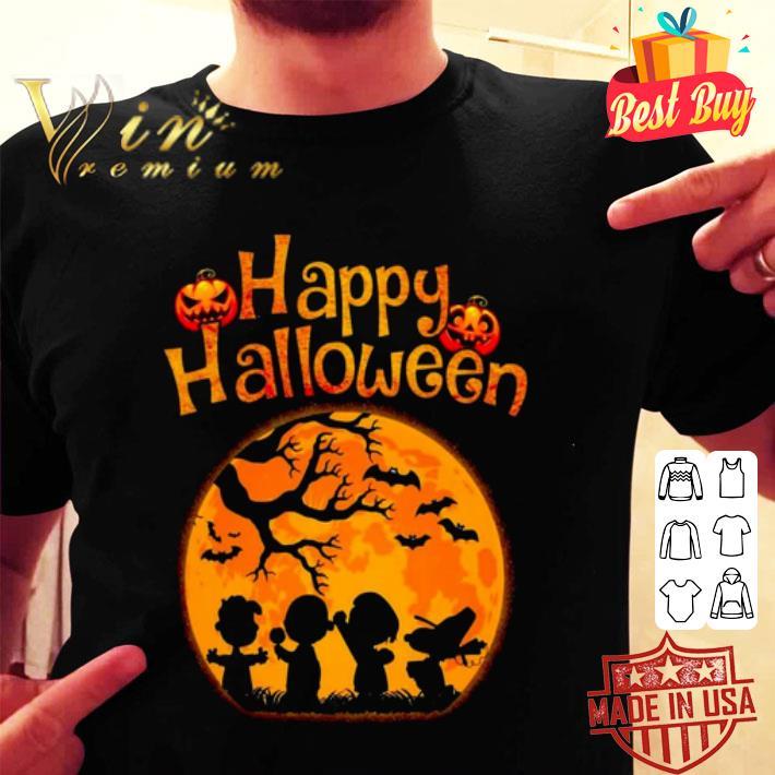 Happy halloween Peanuts characters shirt