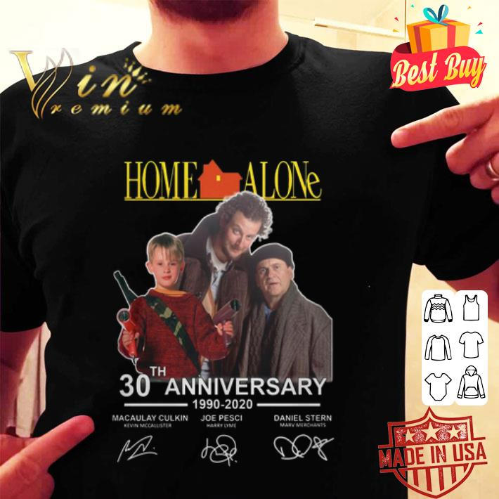 Home Alone 30th anniversary 1990-2020 Macaulay Culkin signatures shirt