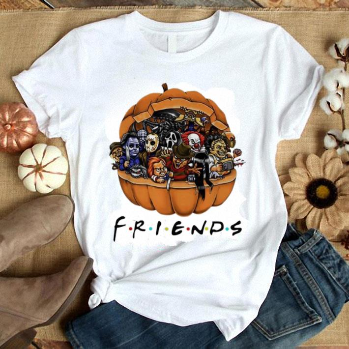 Horror characters Chibi in pumpkin Friends shirt