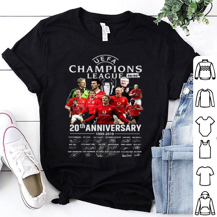 Manchester United UEFA Champions League 98 99 20th anniversary shirt