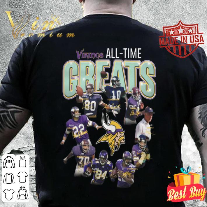 Minnesota Vikings all-time greats signatures shirt