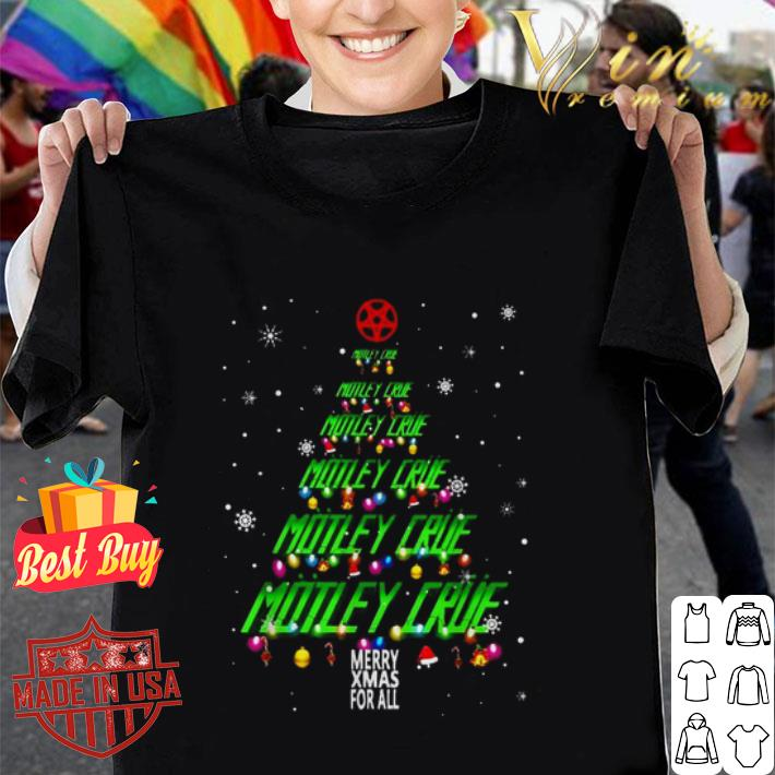 Motley Crue Merry Xmax For All Chirstmas tree shirt