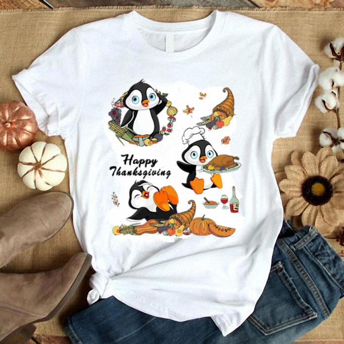 Penguins Happy Thanksgiving shirt
