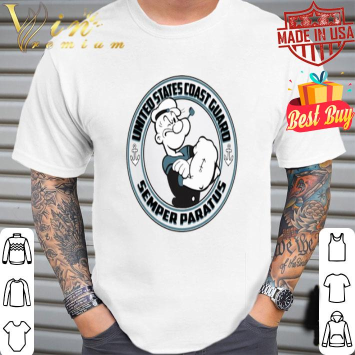 Popeye United States Coast Guard Semper Paratus shirt