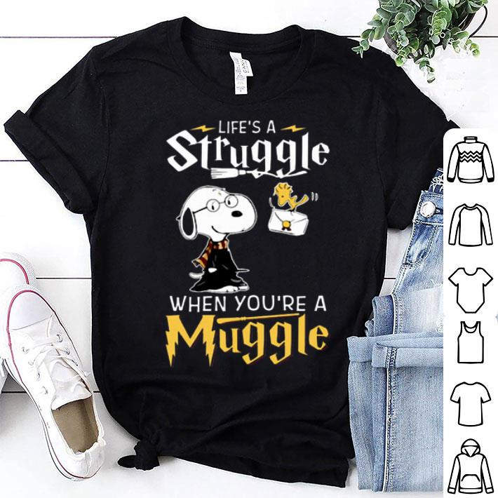 Snoopy Potter life's a struggle when you're a muggle shirt