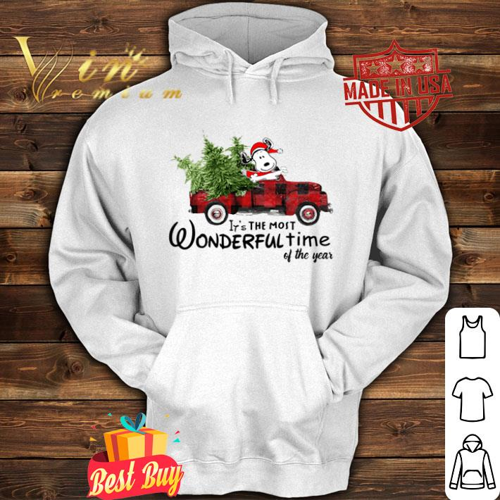 Snoopy Truck It's The Most Wonderful Time Of The Year Christmas shirt