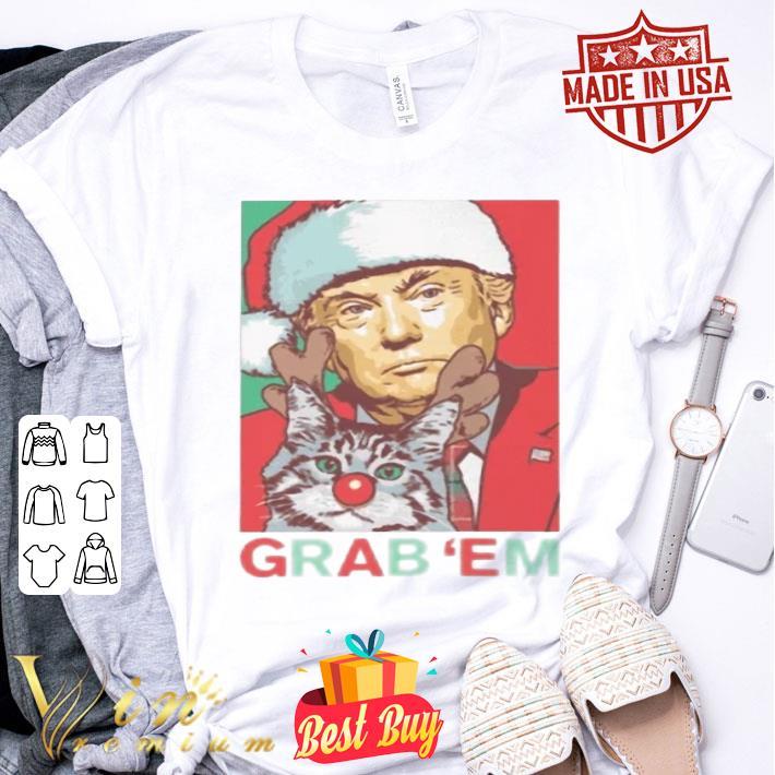 Trump cat Grab 'Em Holiday shirt