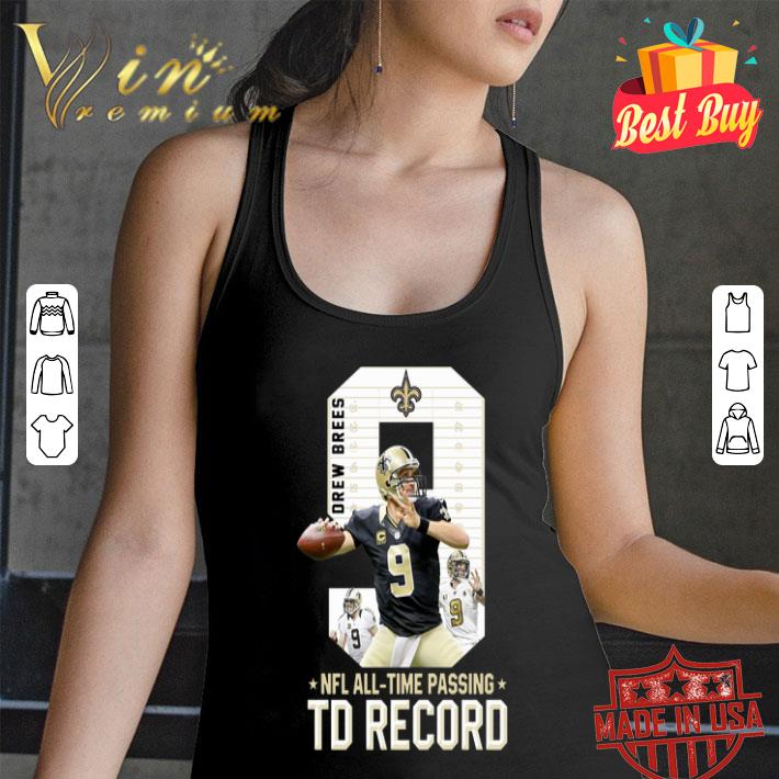 09 Drew Brees NFL all time passing to record shirt