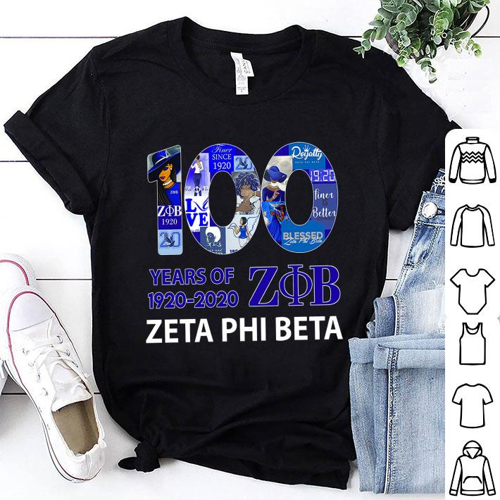 100 years of Zeta Phi Beta 1920 2020 shirt