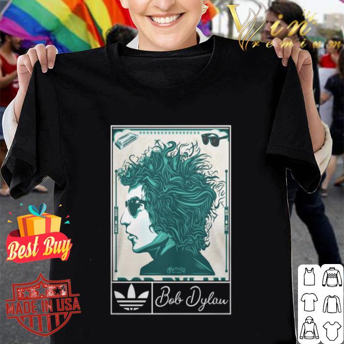 Adidas 2019 Bob Dylan Music Art Silk shirt