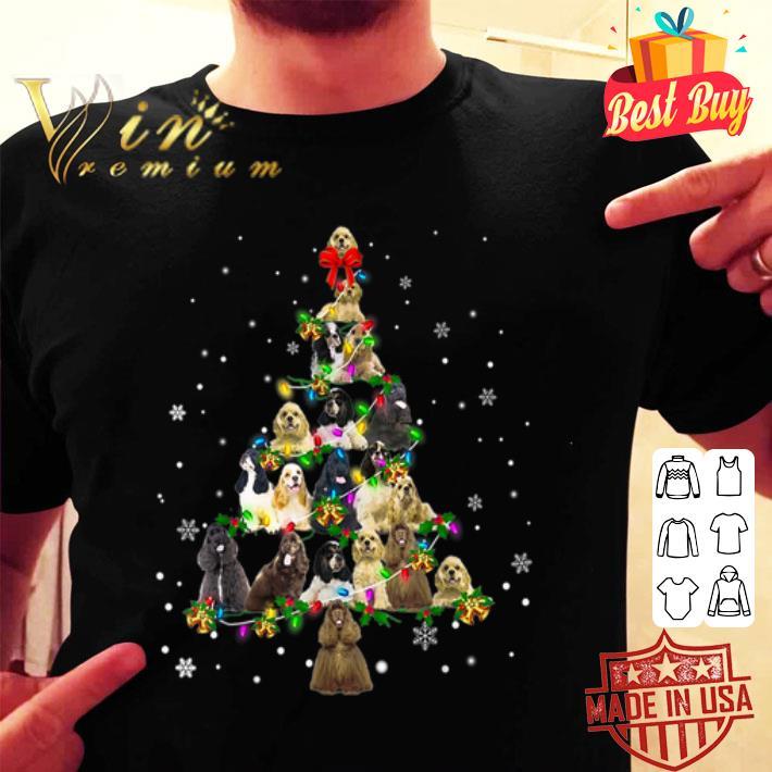 American Cocker Spaniel Christmas Tree shirt