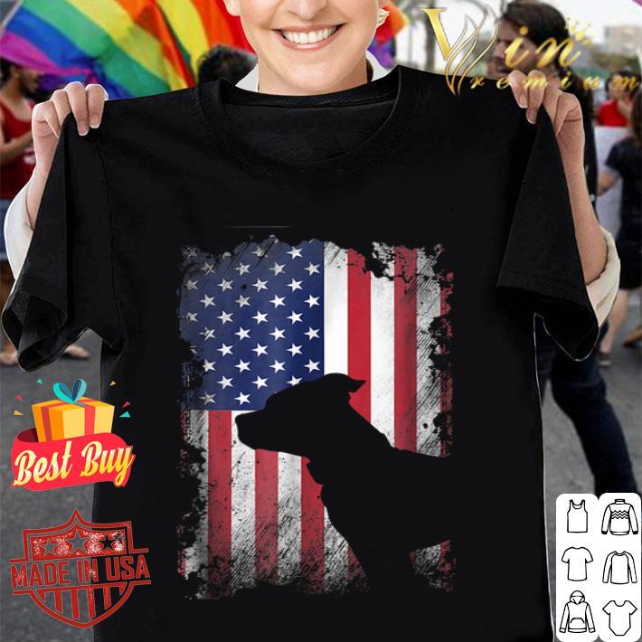 American Flag Pitbull Terrier USA Flag shirt