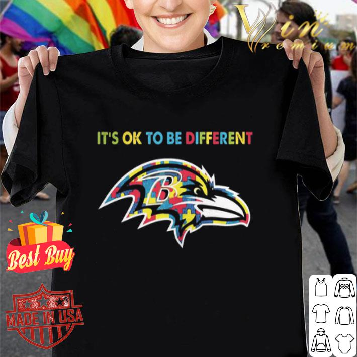 Autism It's ok to be different Baltimore Ravens shirt