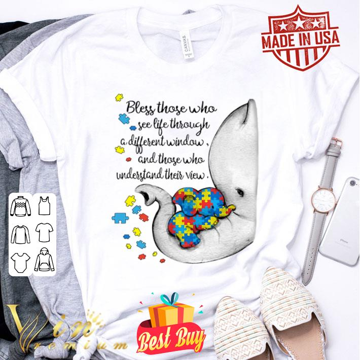 Autism Puzzle elephants bless those who see life through window shirt