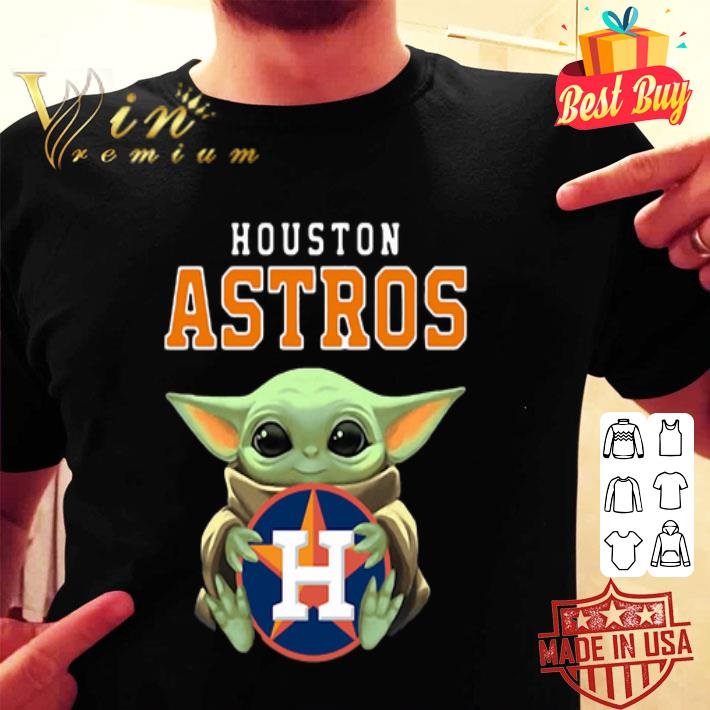 Baby Yoda Hug Houston Astros Logo shirt