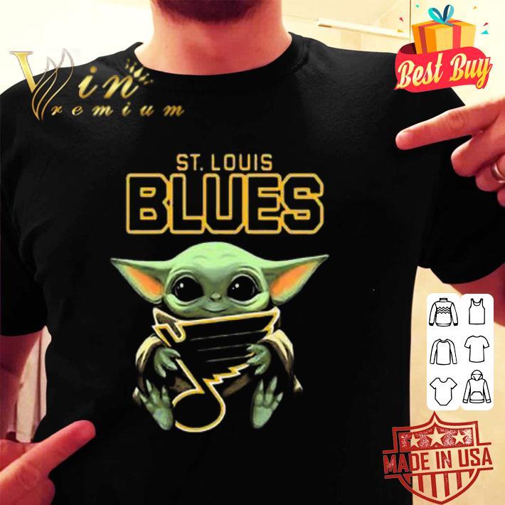 Baby Yoda Hug St Louis Blues Star Wars shirt