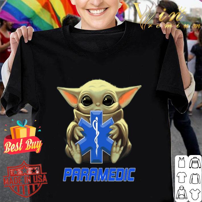Baby Yoda hug Paramedic Medical Star Wars Mandalorian shirt