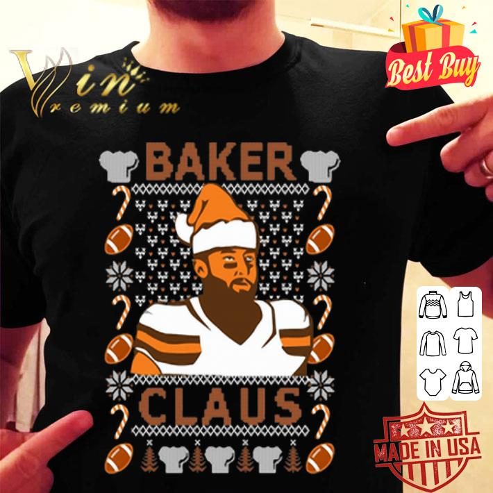 Baker Mayfield Baker Claus Cleveland Brown ugly Christmas sweater