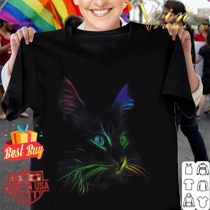Color Cat Face LGBT shirt