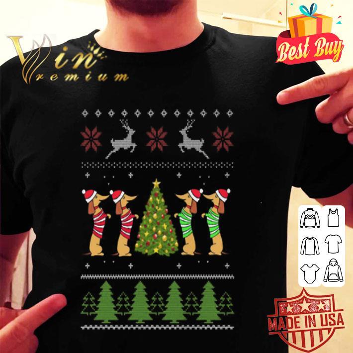 Dachshund Christmas tree ugly Xmas sweater
