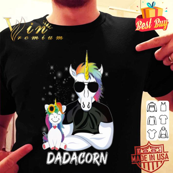 Dadacorn Unicorn Dad And Daughter Christmas shirt