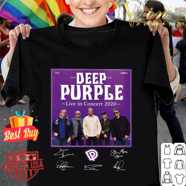 Deep Purple live in concert 2020 all signature autographed shirt