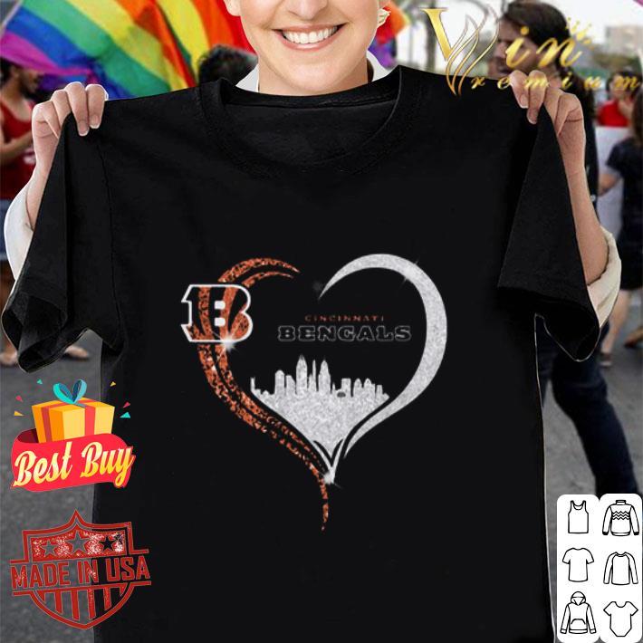 Diamond Love Cincinnati Bengals Heart City shirt
