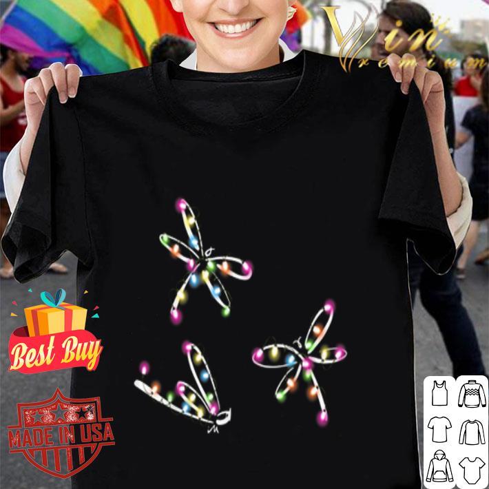 Dragonfly Christmas light shirt