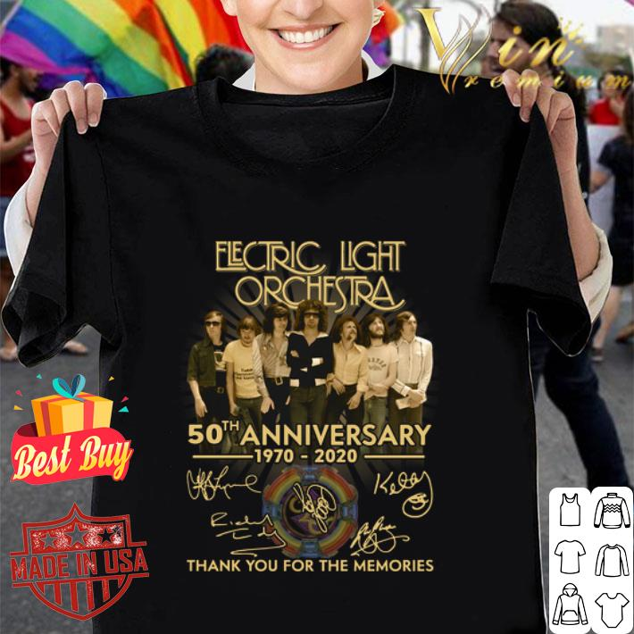 Electric Light Orchestra 50th anniversary 1970 2020 all signed shirt