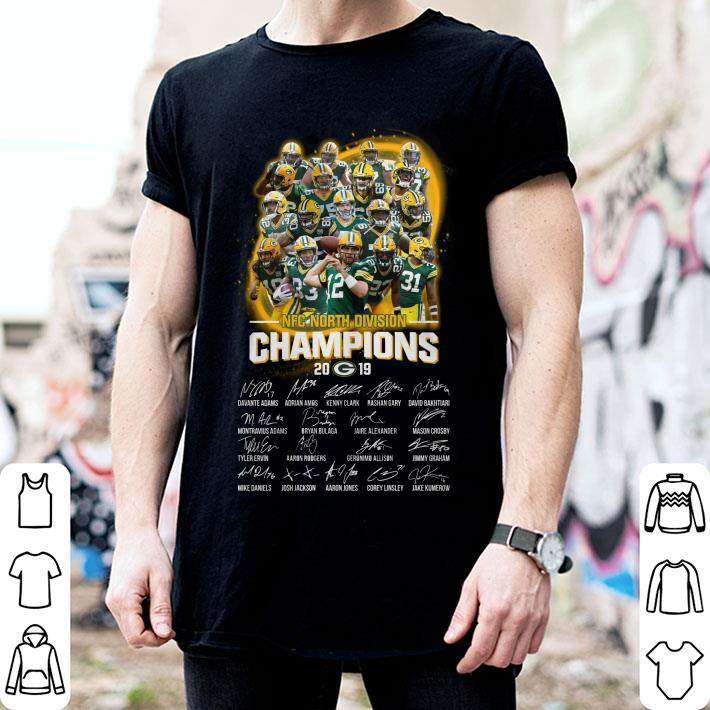 Green Bay Packers NFC North Division Champions 2019 signatures shirt