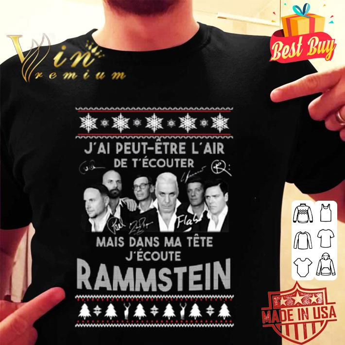 J'ai peut etre l'air de t'ecouter mais Rammstein ugly Christmas sweater