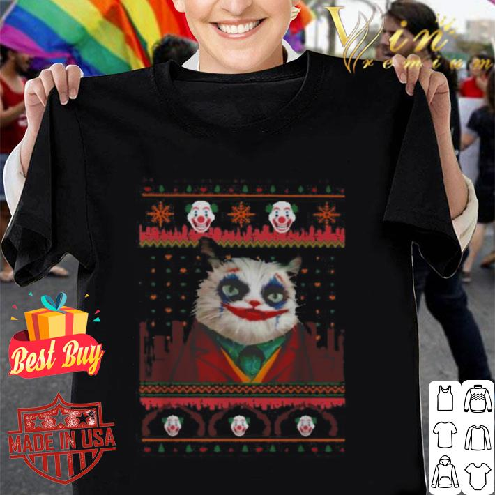 Joker cat version ugly Christmas sweater