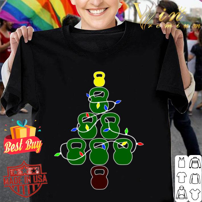Kettlebell Christmas Tree fitness shirt