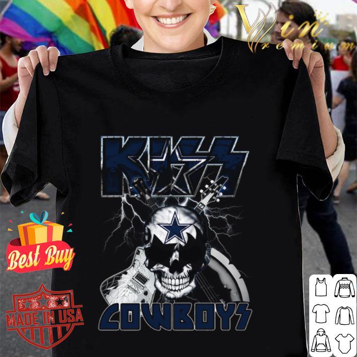 Kiss Cowboys Dallas Cowboys Guitar Skull shirt