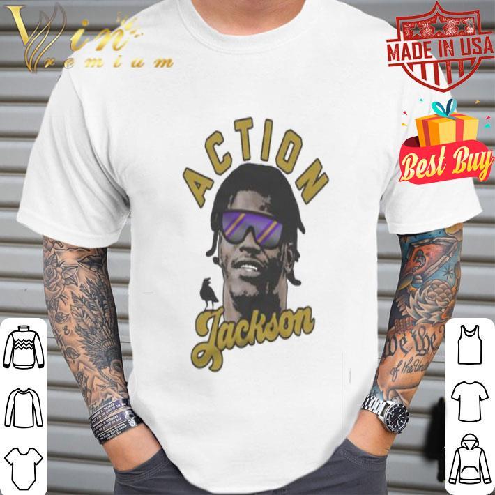 Lamar Jackson Action Jackson Baltimore Ravens shirt