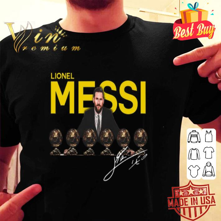 Lionel Messi 6 golden ball signature shirt