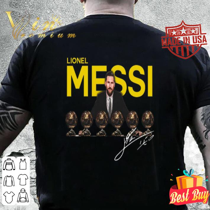 Lionel Messi 6 golden ball signature shirt