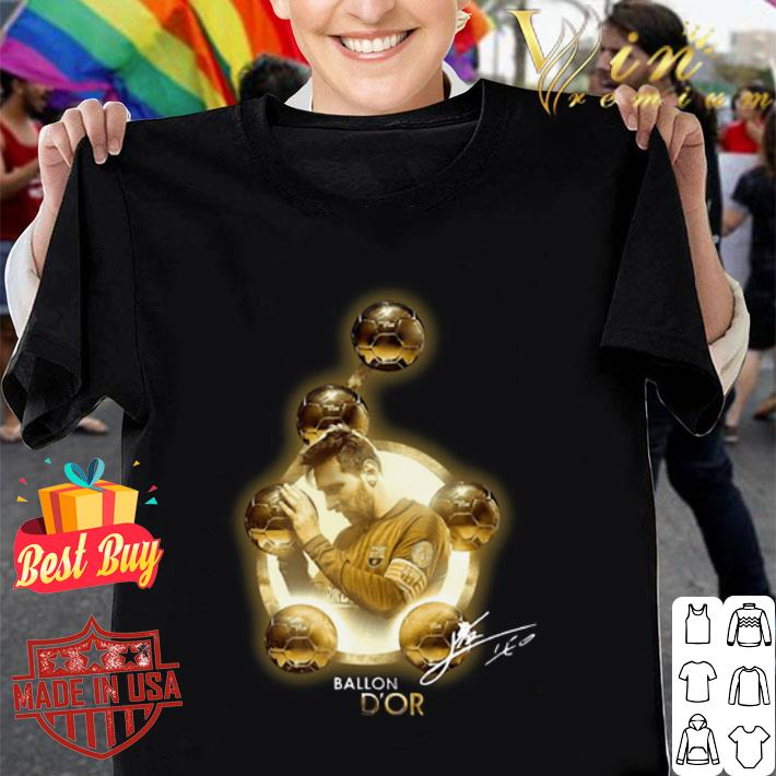 Lionel Messi Sixth Golden Ball Ballon D'or signature shirt