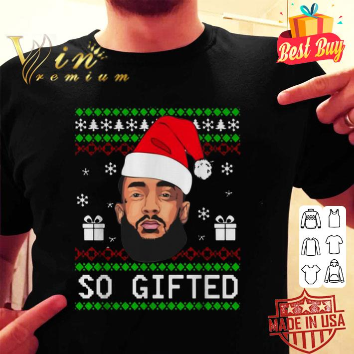 Nipsey Hussle So Gifted ugly Christmas sweater