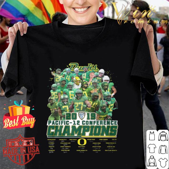 Oregon Ducks 2019 Pacific 12 conference Champions signatures shirt