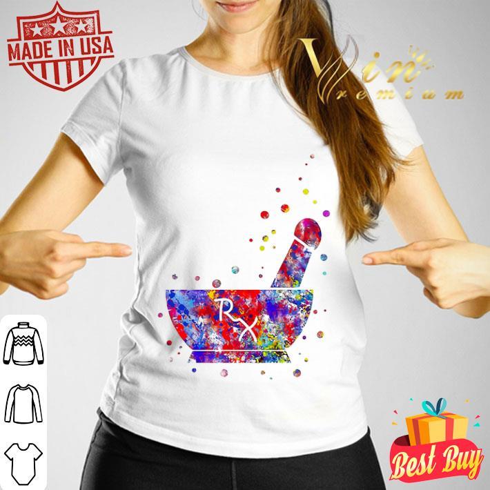Pharmacist Pestle Rx medical colorful shirt