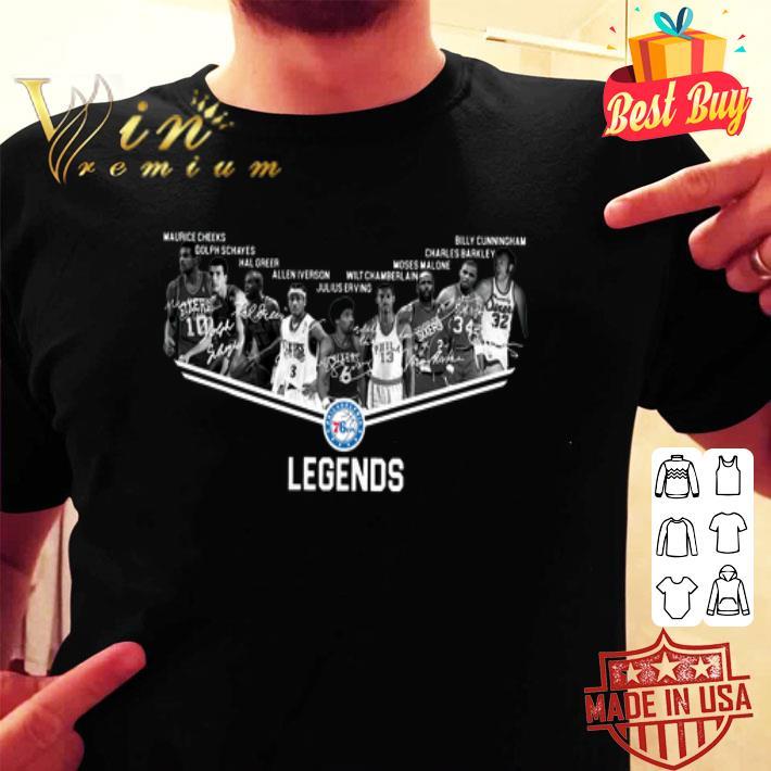 Philadelphia 76ers Legends all signature shirt